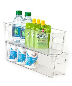 Another great find on #zulily! 15'' x 4'' Clear Refrigerator Organizer Set by Dial #zulilyfinds