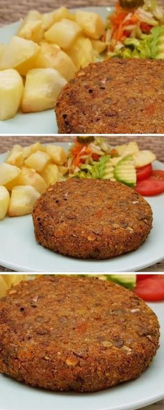 Linsenburger A healthy and delicious option! … – Heal… Linsenburger A healthy and delicious option! Salada Light, Vegan Books, Vegetarian Recipes, Healthy Recipes, Snacks, Easy Cooking, Dessert, Good Food, Food And Drink