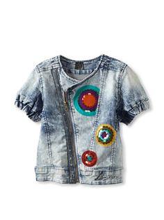 55% OFF Desigual Girl\'s Pointsettia Jacket (Light Jeans)