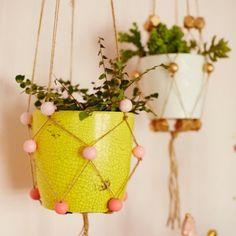 DIY Beaded Plant Hangers. (via Honest to Nod)