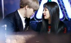 """""""Sometimes I look at you and I wonder how I got to be so damn lucky. Repost with cr pls! Korean Couple, Best Couple, K Pop, Jimin Seulgi, We Get Married, Kpop Couples, Red Velvet Seulgi, Fanart, Blackpink And Bts"""