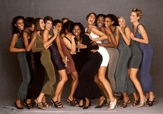 1990 - Models in Alaia 'Stretch' dresses by Gilles Bensimon 4 Elle
