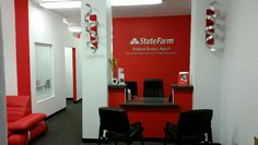 Hey guys just wanna invite anyone who would like to come and join us for My wife Andrea Suazo State Farm Grand Opening on October here in Taos. Office Ideas For Work, Office Set, Front Office, State Farm Office, Office Reception Design, State Farm Insurance, Business Office Decor, Agency Office, Office Interiors