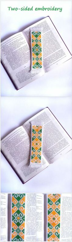 Hand embroidery bookmark. Book lover gift. Bookworm gift.