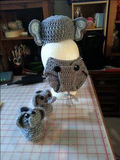 Elephant Baby Diaper cover Cap & Bootie's