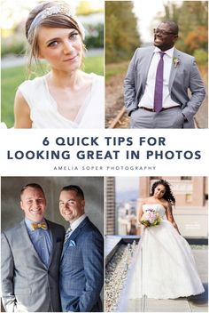 6 tips for looking your best in photos. Short Wedding Gowns, Wedding Vows, Wedding Photos, Wedding Day, Genuine Smile, Wedding Function, School Photography, Wedding Arrangements, Photo Tips