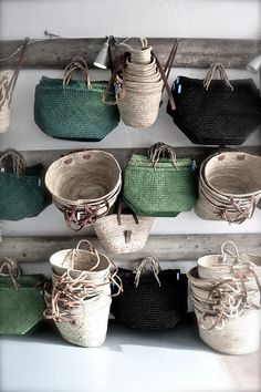 "l-echappee-belle: "" margadirube: "" a-girl-from-the-north-country "" panier en osier "" Sisal, Jute, Boho Home, Basket Bag, Basket Weaving, Woven Baskets, Woven Bags, Decoration, Wicker"