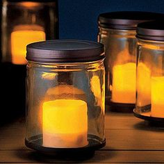 Solar Lights in Glass Jars- charge them during the day on the decorative tray and sit them around the garden or on a table at night. Pull them out for a summer party or use them to light up your garden.