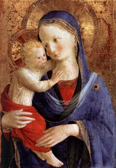Fra Angelico (Italian painter, 1387-1455) Madonna & Child