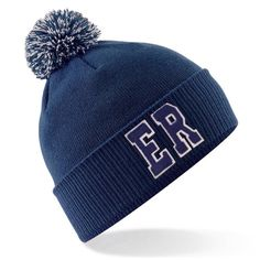 3d82857ca25 Personalised Navy Bobble Hat With Initials