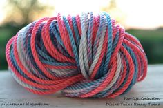 #36 Pro-life Collection of rosary twine, includes pink, blue, white and a variegated combination of those colors. Available at divinetwine.blogspot.com
