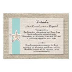 Starfish Beach Wedding Table Numbers - Turquoise from Zazzle.com