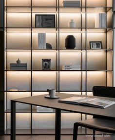 Bookshelf Design 2020 – How many books fit on a bookshelf - Home Ideas Shelving Design, Tv Wall Design, Bookshelf Design, Shelving Systems, Home Office Design, Home Interior Design, Interior Architecture, Cabinet Furniture, Furniture Design