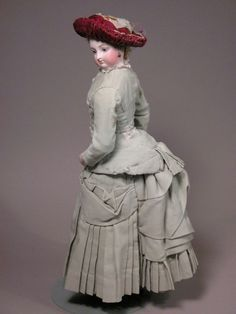 Late 1870s-1880s French Fashion Doll