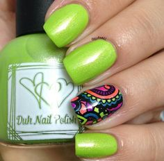 Duh Nail Polish: ☆ What Happens Here, Stays Here ☆ ... with a beautiful reverse stamping nail art accent nail