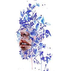Still looking for a special gift for someone?  Garden VII by artist Agnes Cecile is a beautiful piece that captures watery blue tones that transcends the seasons.  Shop this piece and more at EyesOnWalls.com  #art #urbanart #streetart #wallart #watercolor #illustration #portrait #modern #blue #winterblues