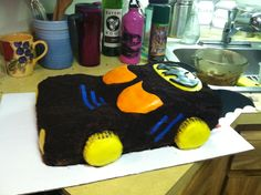 Batmobile cake for my other nephew's 4th birthday!