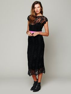 Miguelina Lilly Vintage Embroidered Dress at Free People Clothing Boutique Lace Skirt, Lace Dress, Dress Up, Samba, Weekly Outfits, Sheer Dress, Beautiful Outfits, Beautiful Clothes, Free People Dress