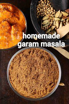 garam masala recipe   how to make homemade garam masala powder Chaat Recipe, Masala Recipe, Garam Masala Powder Recipe, Spicy Recipes, Cooking Recipes, Masala Spice, Tandoori Masala, Indian Dessert Recipes, Indian Recipes