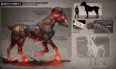 ArtStation - Mortal Kombat X - Quan Chi's Demon Horse, Anthony Sixto