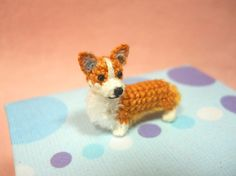 Pembroke Welsh Corgi Amigurumi Crochet Tiny Dog Stuff by SuAmi