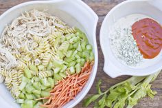 Buffalo Chicken Pasta Salad on iheartnaptime.com