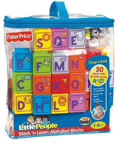 Fisher-Price Little People Builders Stack 'n Learn Block Bag Assortment Fisher-Price