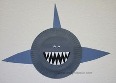 Cindy deRosier: My Creative Life: Paper Plate Sharks