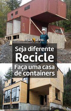 Faça uma casa de containers