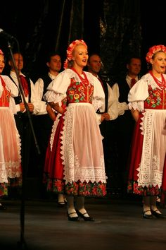 A folk costume of Silesia, Poland