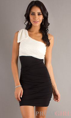 One Shoulder Two Toned Dress