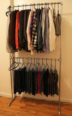 DIY Pipe Clothing Rack - fashionable womens clothing, womens clothes online sale, cheap womens clothes online shopping *ad