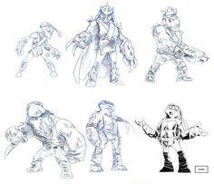 TMNT sketches by Creator Hector Amavizca