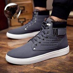 sports shoes 62024 aa419 Men snow boots botas masculina 2018 fashion microfiber PU warm Plus cotton  ankle boots autumn winter boots men shoes men 39-47