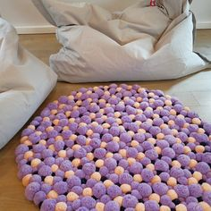 Pom Pom rug for girls room soft rug for baby room nursery rug bedroom rug colorful heart Rainbow Centerpiece, Rainbow Decorations, Baby Room Rugs, Nursery Rugs, Pom Pom Mobile, Hanging Mobile, Rainbow Nursery Decor, Bear Rug, Pom Pom Rug