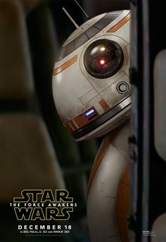 #StarWars #TheForceAwakens check out this all new #BB8 character poster!