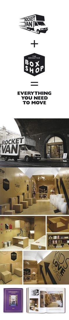 Rocket Van branding by Bear, London