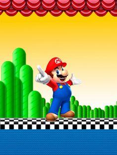 Super Mario Bros: Etiquetas Gratis para Candy Bar.