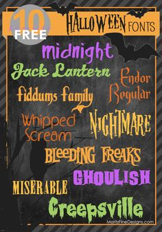 The BEST free spooky, creepy and scary Halloween Fonts! Download now to use on your Halloween projects and invitations! | www.MoritzFineBlogDesigns.com