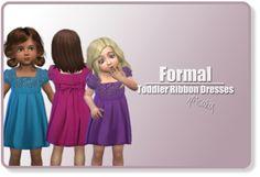Xmisakix sims: Toddler ribbon dress • Sims 4 Downloads