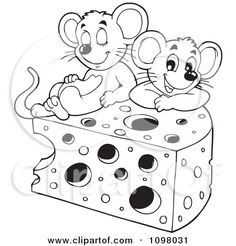 mouse with cheese drawings - Google Search