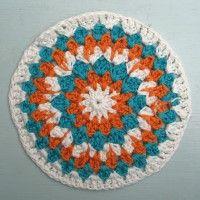 Crochet Mandala Wheel made by Nicola, York, UK, for yarndale.co.uk