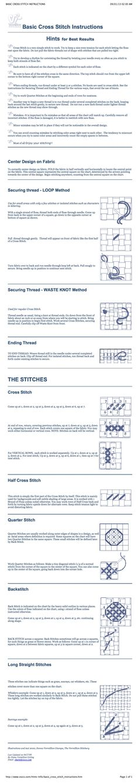 Basic Cross Stitch Instructions http://www.vsccs.com/Hints-Info/basic_cross_stitch_instructions.htm