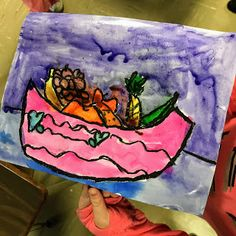 Elements of the Art Room: 2nd grade Paul Cezanne inspired Fruit bowls Fruit Art Kids, Paul Cezanne, French Artists, Fruit Bowls, Artwork, Projects, Painting, Inspiration, Inspired