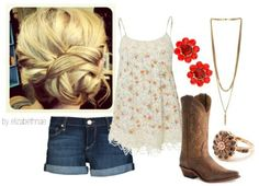 Country Clothes # Summer Clothes # Country Girl # Summer Time # Cowboys Boots #Country