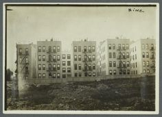 "Rear View of ""New Law"" Tenement Houses 1910"