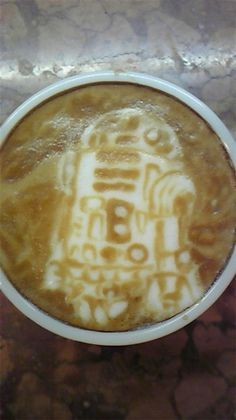 R2-D2 3D Latte Art by Kazuki Yamamoto! May the force be with you.