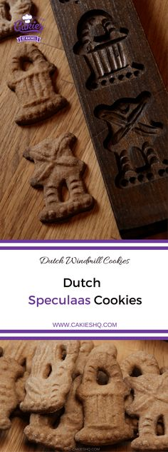 Speculaas Cookies, also known as Speculoos or Dutch Windmill Cookies are a traditional Dutch cookie. Make the cookies with a speculaas mold or cookie cutter. Dutch Recipes, Baking Recipes, Cookie Recipes, Dessert Recipes, Desserts, Bar Recipes, German Recipes, Windmill Cookies Recipe, Speculaas Cookie Recipe