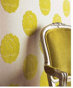 "Temporary Fabric ""wallpaper"" - Easy to remove! Great if you change your ""design mind"" all the time, like me!"