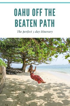 Off the Beaten Path: The Perfect 5 Day Itinerary The perfect Oahu itinerary to get you off the beaten path and allow you to discover some hidden gems outside of Honolulu!Some Some may refer to: Oahu Hawaii, Hawaii Honeymoon, Hawaii Travel, Travel Usa, Travel Tips, Visit Hawaii, Summer Travel, Travel Advice, Oahu Vacation